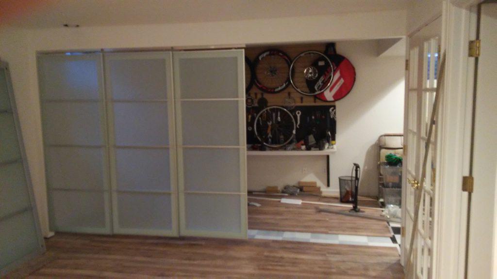 John Hurdel, Longmont, Boulder County, Colorado handyman and carpenter, created this IKEA paneled divider wall in Gunbarrel, Colorado.