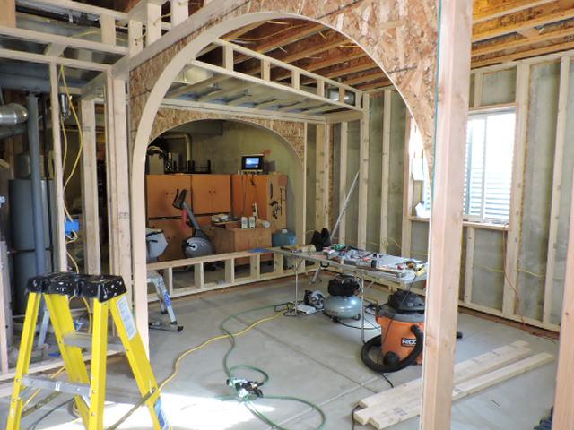 Boulder County carpenter John Hurdel framed these archways in Erie, Colorado 80516