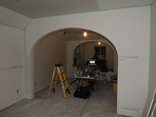 Spetzler basement arcade by Longmont, Boulder County master carpenter John Hurdel.