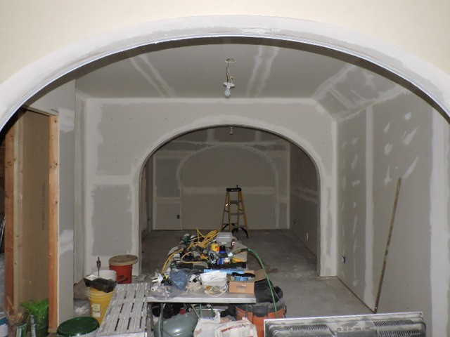 John Hurdel, Longmont, Boulder County, Colorado carpenter and remodeler, framed and drywalled an arcade (series of arches) for the Spetzlers in Erie, Colorado.